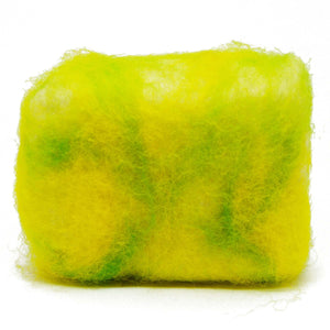 Exfoliating felted soap by Bruntwood Lane - Lime Blossom (horiztonal)