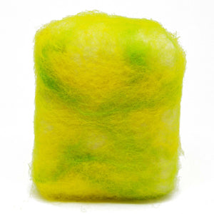 Exfoliating felted soap by Bruntwood Lane - Lime Blossom (standing)