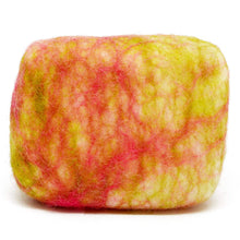 Load image into Gallery viewer, Exfoliating felted soap by Bruntwood Lane - Melon and Strawberry (horizontal)