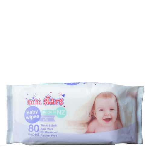 Mini Stars Baby Wipes - Unscented - Bruntwood Lane