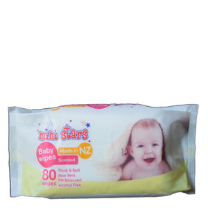 Mini Stars Baby Wipes - Scented - Bruntwood Lane