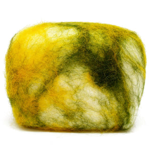 Exfoliating felted soap by Bruntwood Lane - Olive Oil & Cocoa Butter (horizontal)