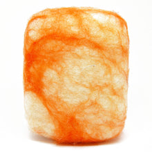 Load image into Gallery viewer, Exfoliating felted soap by Bruntwood Lane - Orange Crush (standing)