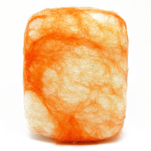 Exfoliating felted soap by Bruntwood Lane - Orange Crush (standing)