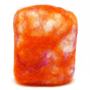 Exfoliating felted soap by Bruntwood Lane - Passionfruit (standing)