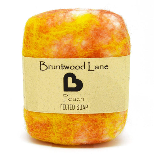 Exfoliating felted soap by Bruntwood Lane - Peach