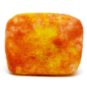 Exfoliating felted soap by Bruntwood Lane - Peach (horizontal)
