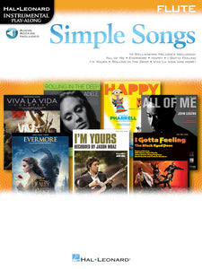 Simple Songs Instrumental Play Along Sheet Music [product type] Luscombe Music - Luscombe Music