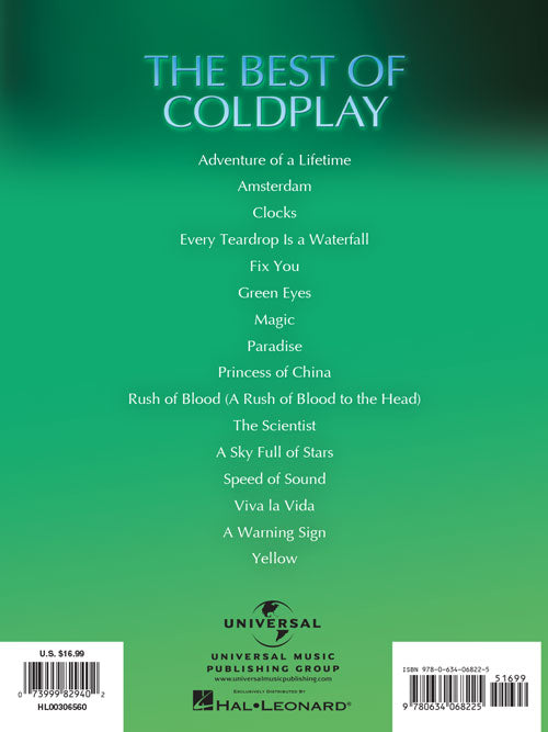 The Best of Coldplay Easy Piano Sheet Music Book 2nd Edition