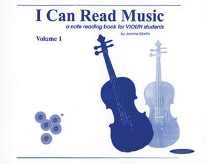 I Can Read Music: A Note Reading Book for Violin Students Book 1