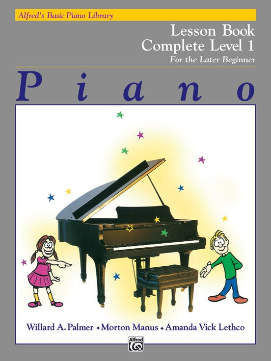Alfred's Basic Piano Library Lesson Book Complete Level 1 [product type] Luscombe Music - Luscombe Music