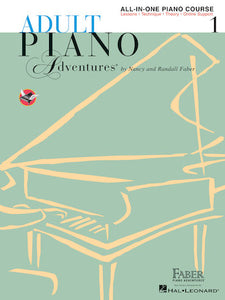 Faber & Faber Adult Piano Adventures All-in-One Piano Course Book 1 [product type] Luscombe Music - Luscombe Music