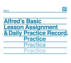 Alfred's Basic Lesson Assignment & Practice Record [product type] Luscombe Music - Luscombe Music