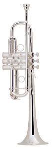 "Bach Stradivarius ""Chicago C"" Silver-Plated C Trumpet [product type] Luscombe Music - Luscombe Music"