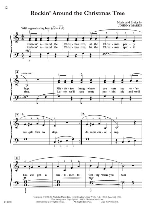 Rockin Around The Christmas Tree Piano Letters.Faber Faber Chordtime Christmas Piano Book Level 2b