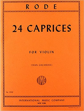 Rode Twenty-Four Caprices for Violin International Edition [product type] Luscombe Music - Luscombe Music