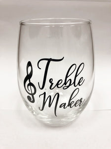 'Treble Maker' Wine Glass [product type] Luscombe Music - Luscombe Music