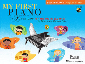 Faber & Faber My First Piano Adventure Lesson Book B with CD [product type] Luscombe Music - Luscombe Music