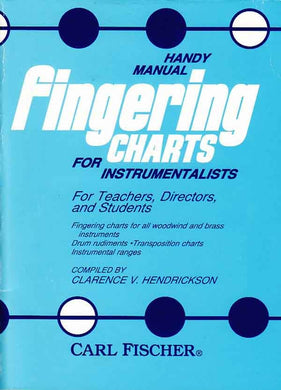 Handy Manual: Fingering Charts for Instrumentalists [product type] Luscombe Music - Luscombe Music