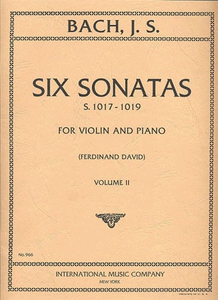 Bach Six Sonatas Vol. 2 for Violin with Piano Accompaniment International Edition [product type] Luscombe Music - Luscombe Music