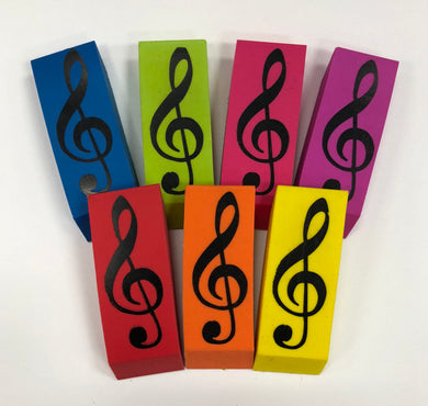 Treble Clef Musical Eraser