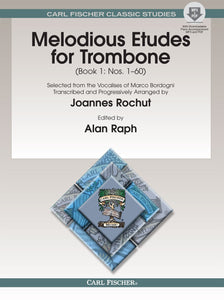 Melodious Etudes for Trombone Book 1 by Joannes Rochut with MP3 & PDF Downloads