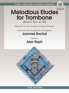 Melodious Etudes for Trombone Book 2 by Joannes Rochut with MP3 & PDF Downloads