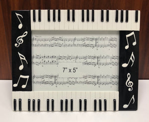 "Piano Keys Picture Frame 7""x5"" [product type] Luscombe Music - Luscombe Music"