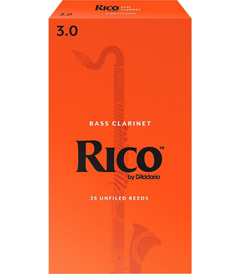 Rico Box of 25 Bass Clarinet Reeds [product type] Luscombe Music - Luscombe Music