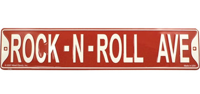 Rock-N-Roll Ave Sign [product type] Luscombe Music - Luscombe Music