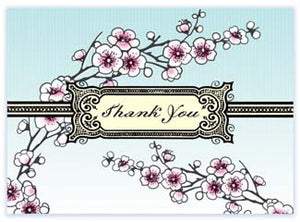 B107 Boxed cards - Thank You - Blossoms