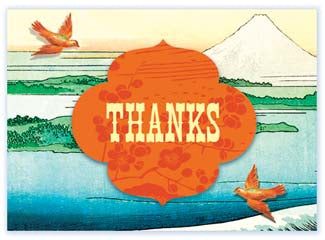 B113 Boxed cards - Thanks - Orange Birds
