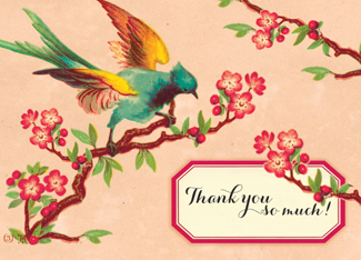 B130 Boxed cards - Thank You So Much! - Bird
