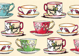 B131 Boxed cards - Teacups