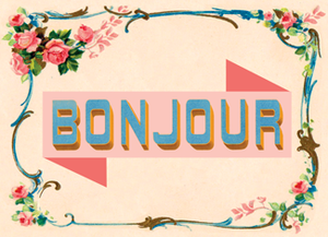 B133 Boxed cards - Bonjour