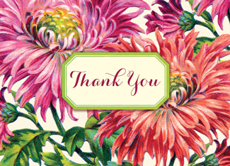 B134 Boxed cards - Thank You - Chrysanthemum