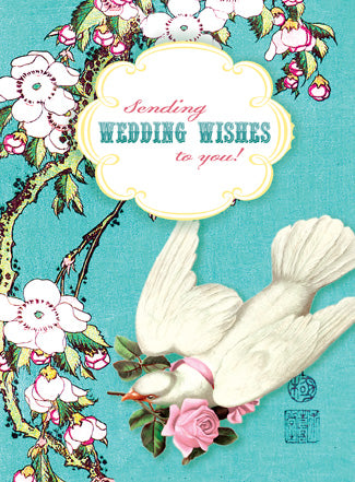 CC194 Sending Wedding Wishes To You! Dove