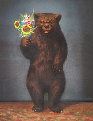 CC661 Bear with flowers