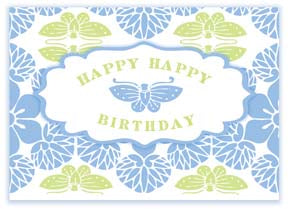 M112 Mini card - Happy Happy Birthday