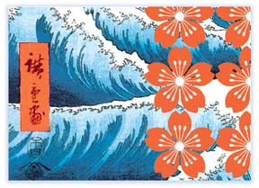 M122 Mini card - Waves and Flowers