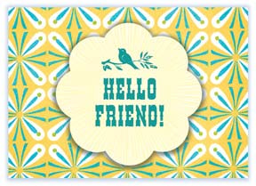 M138 Mini card - Hello Friend!