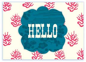 M146 Mini card - Hello