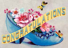 M151 Mini card - Congratulations - Shoe