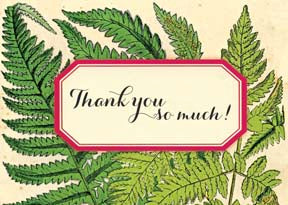 M155 Mini card - Thank You So Much! Fern Leaves
