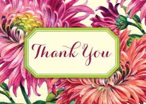 M156 Mini card - Thank You - Chrysanthemum