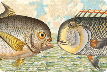 P111 Seaside postcards - Two Fish