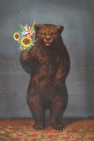 KP063 Bear with flowers