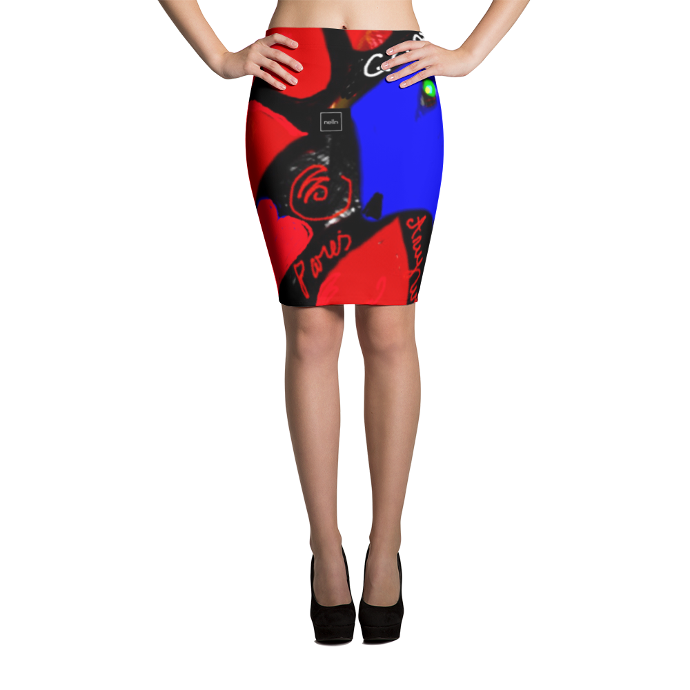 GOAT Hearts Pencil Skirt