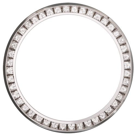 1.75Ct Ladies 26mm Channel Set Princess Cut, Diamond Bezel, White Gold