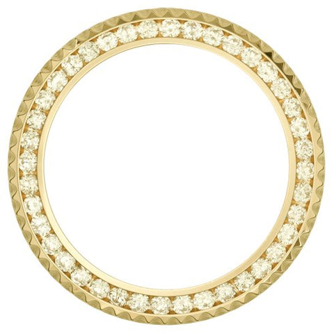 4.50Ct Submariner Beveled Channel Set Diamond Bezel, Yellow Gold